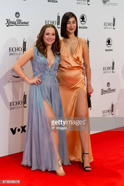 SentaSofia Delliponti and Elif Demirezer on the red carpet during the ECHO German Music Award in Berlin Germany on April 06 2017