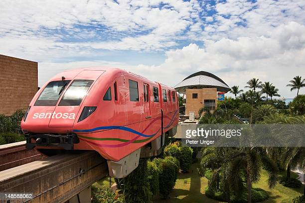 Sentosa Island monorail train.