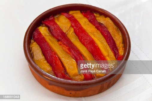 Senyera made with peppers : Stock Photo