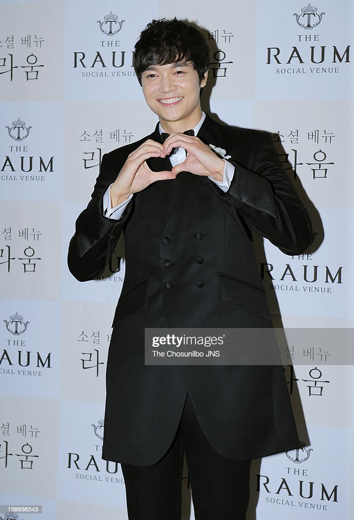 Seo Do-Young poses for photographs before his wedding at the raum on December 22, 2012 in Seoul, South Korea.
