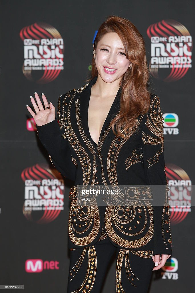 Seo In Young arrives at the red carpet of the 2012 Mnet Asian Music Awards at Hong Kong Convention & Exhibition Center on November 30, 2012 in Hong Kong, China.