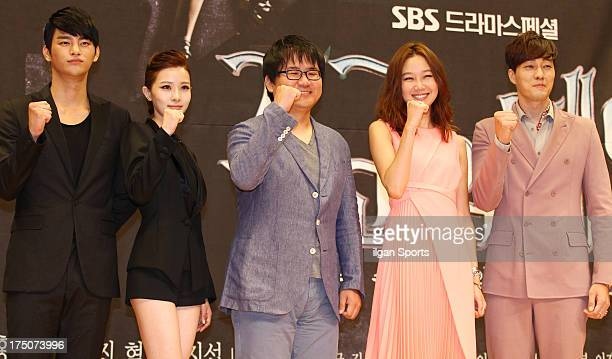 Seo InGuk Kim YooRi director Jin Hyuk Kong HyoJin and So JiSub attend the SBS Drama 'The Master's Sun' press conference at SBS Building on July 26...
