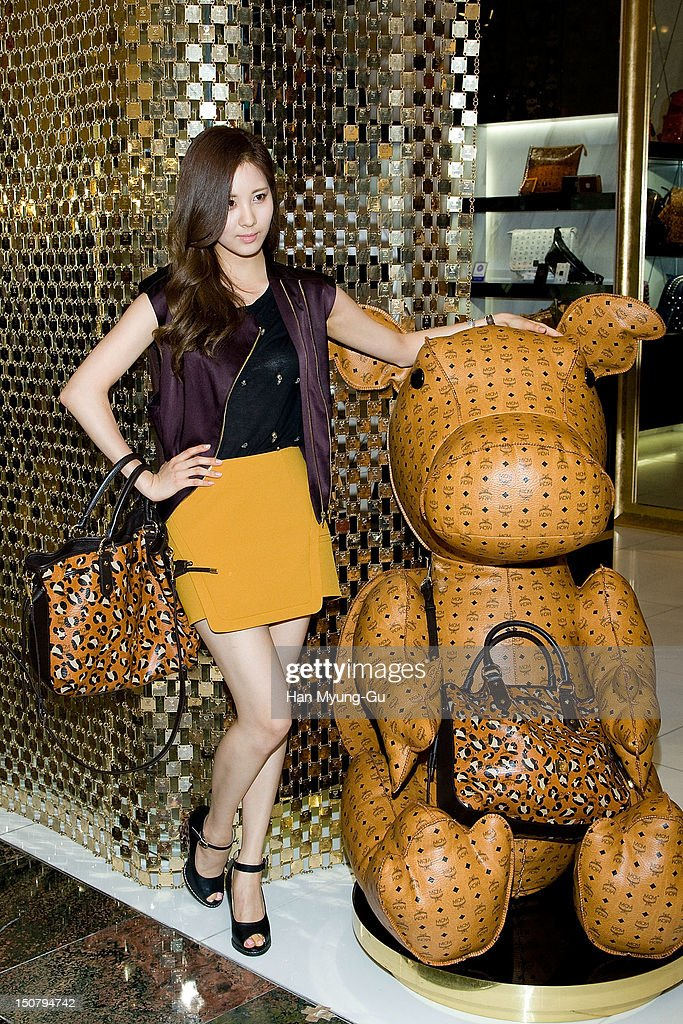 Seohyun of South Korean girl group Girls' Generation attends during the launch event of 'MCM' at Lotte Department Store on August 24, 2012 in Seoul, South Korea.