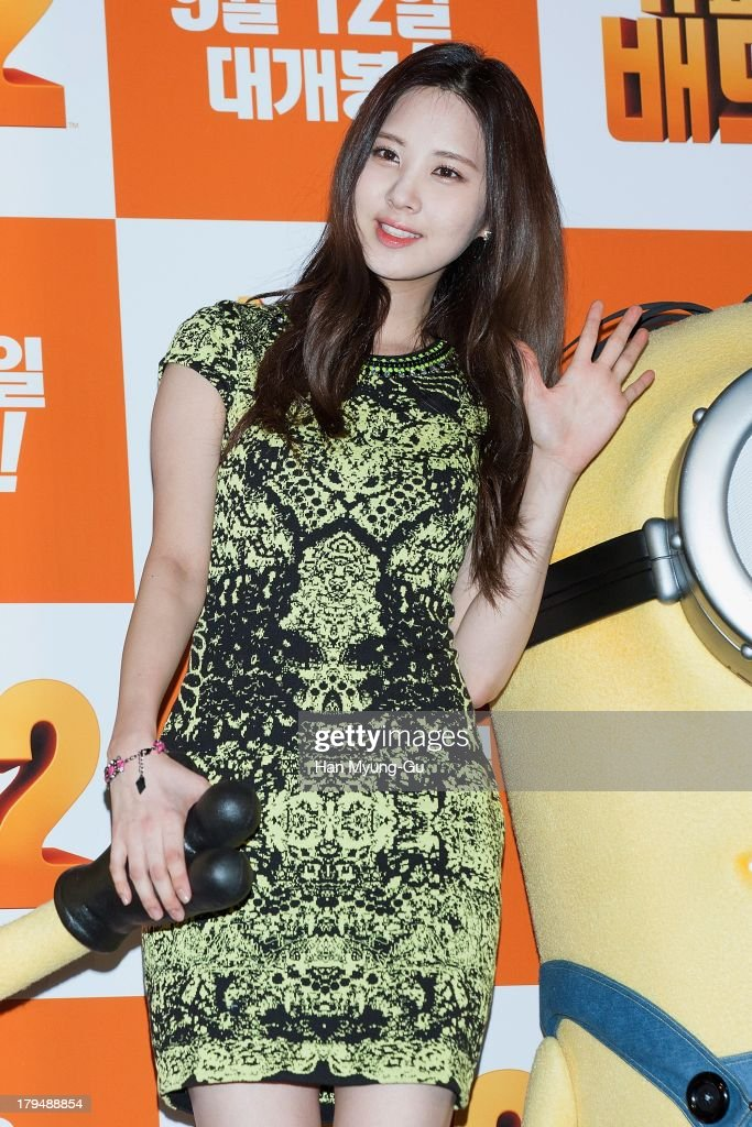 Seohyun of South Korean girl group Girls' Generation attends during 'Despicable Me 2' press conference at the CGV on September 4, 2013 in Seoul, South Korea. The film will open on September 12, in South Korea.