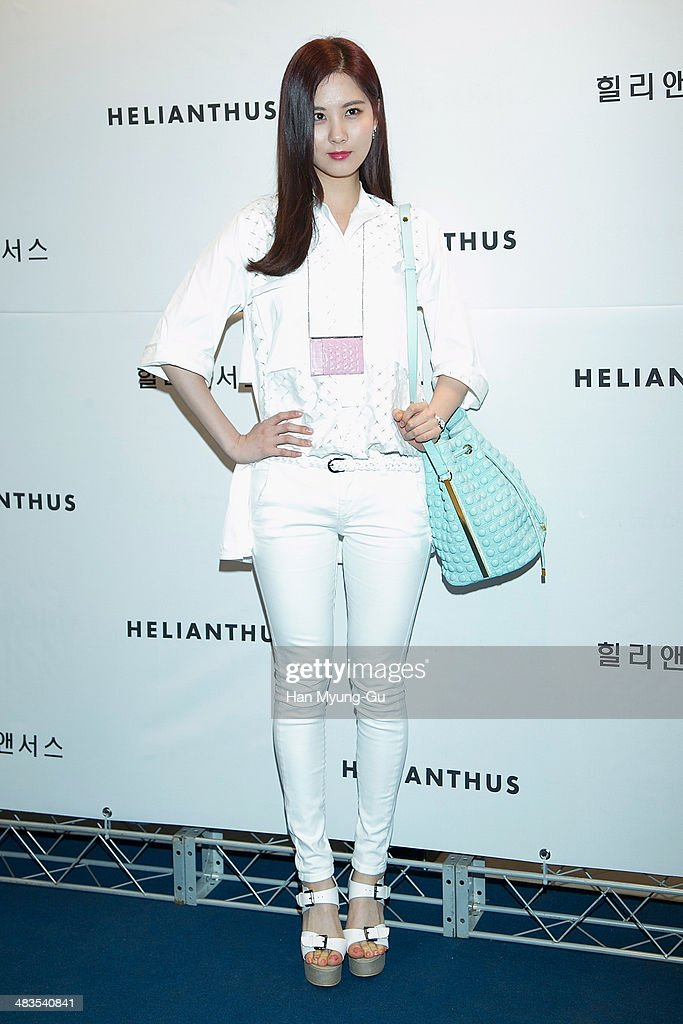 Seohyun of South Korean girl group Girls' Generation attends the 'Helianthus' 2014 S/S Lesley Line Launch event at Lotte Department Store on April 9, 2014 in Seoul, South Korea.