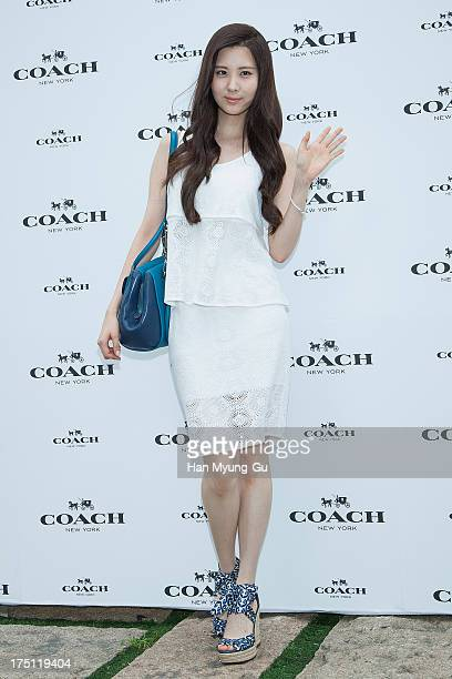 Seohyun of South Korean girl group Girls' Generation attends the Coach 2013 F/W collection presentation at the Beyond Museum on July 31 2013 in Seoul...