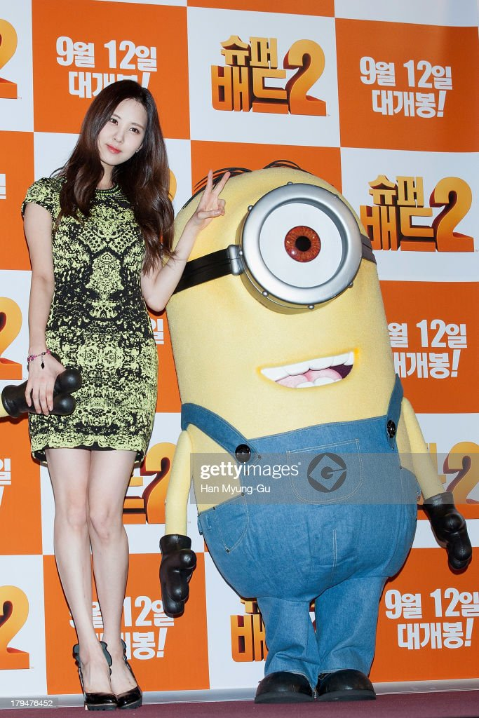 Seohyun of South Korean girl group Girls' Generation attends the 'Despicable Me 2' press conference at the CGV on September 4, 2013 in Seoul, South Korea. The film will open on September 12, in South Korea.