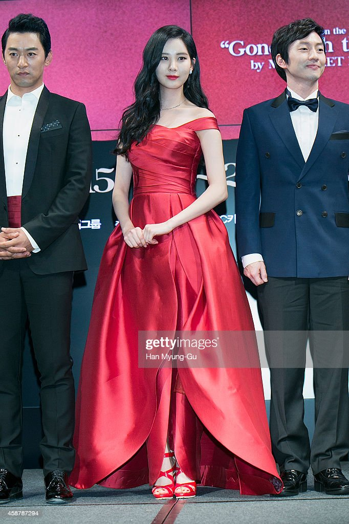 Seohyun of South Korean girl group Girls' Generation attends the press conference for musical 'Gone With The Wind' on November 10, 2014 in Seoul, South Korea. The musical will open on January 09, 2015 in South Korea.