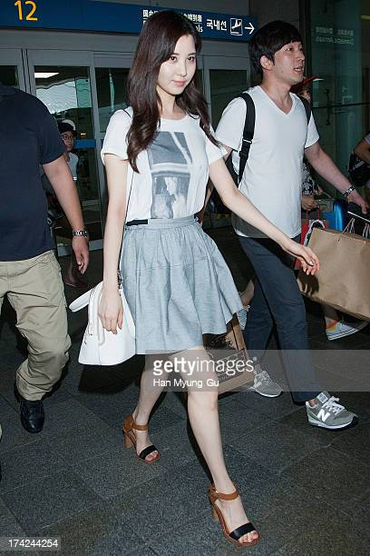 Seohyun of South Korean girl group Girls' Generation is seen upon arrival at Incheon International Airport on July 22 2013 in Incheon South Korea