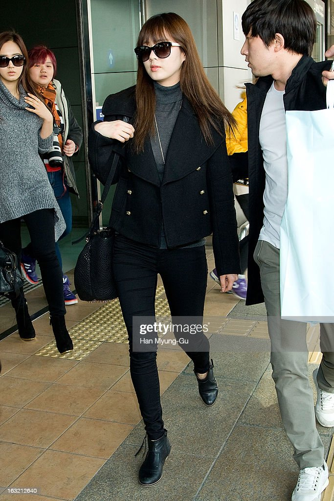 Seohyun of South Korean girl group Girls' Generation is seen upon arrival from Japan at Gimpo International Airport on March 6, 2013 in Seoul, South Korea.