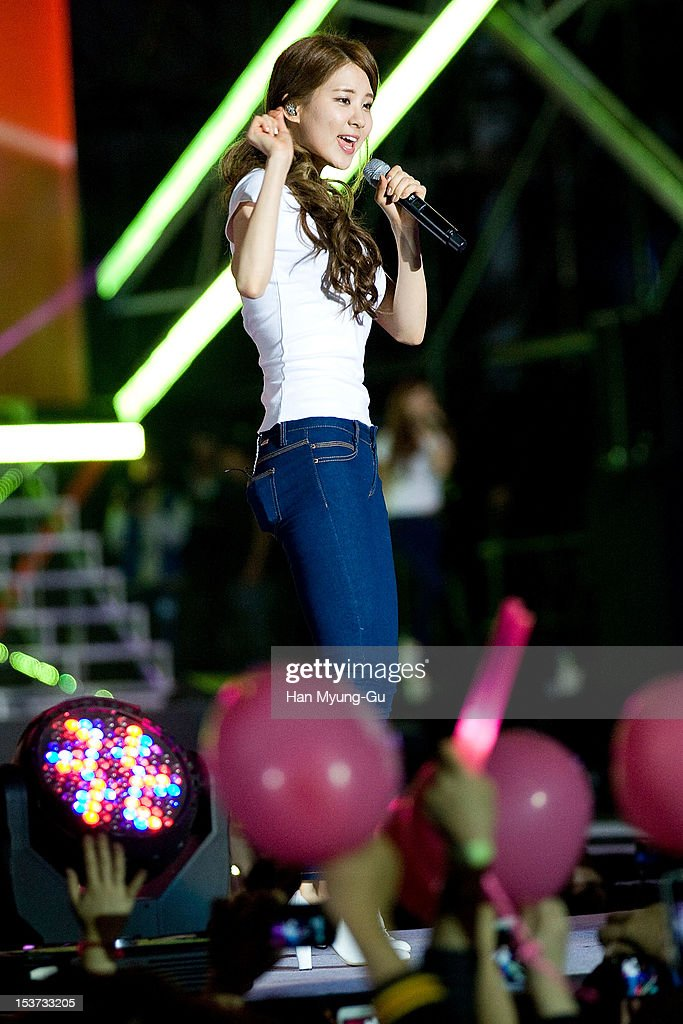 Seohyun of South Korean girl group Girls' Generation performs onstage during the 2012 Gangnam Festival on October 7, 2012 in Seoul, South Korea.