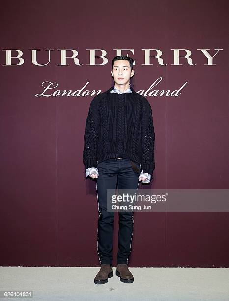 SeoJun Park attends the 'The Tale of Thomas Burberry' at the Burberry Seoul Flagship store on November 29 2016 in Seoul South Korea