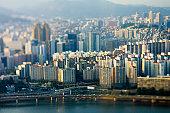 Seoul apartments tilt Shift
