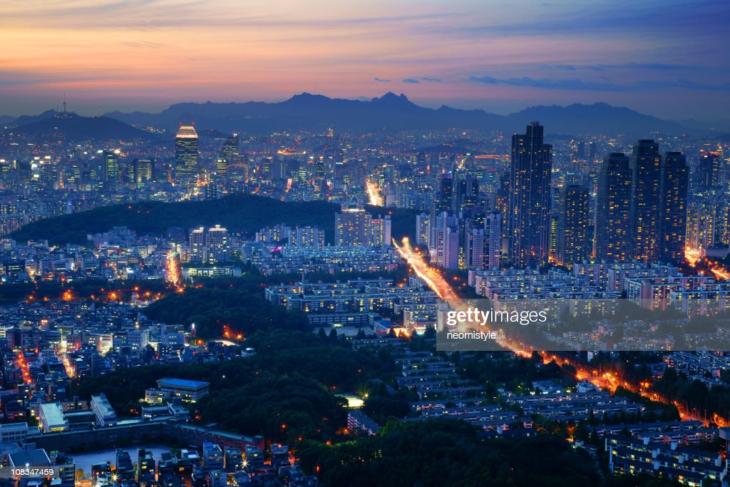 Seoul at night : Stock Photo