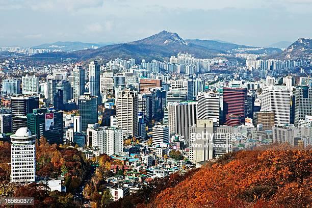 Seoul city from Namsan park