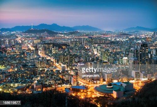 Seoul Cityscape At Dusk
