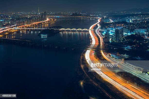 Seoul Cityscape with Han River