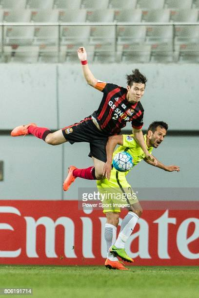 Seoul Defender Hwang Hyunsoo fights for the ball with Urawa Reds Forward Zlatan Ljubijankic during the AFC Champions League 2017 Group F match...