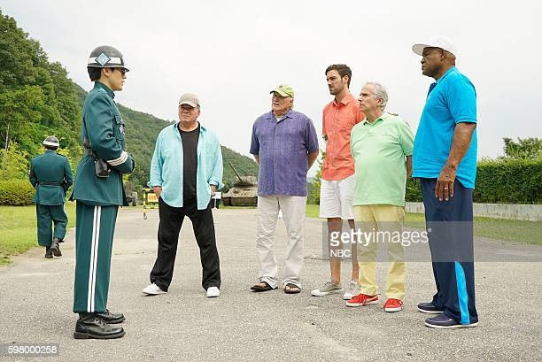 NEVER 'Seoul' Episode 103 Pictured William Shatner Terry Bradshaw Jeff Dye Henry Winkler George Foreman