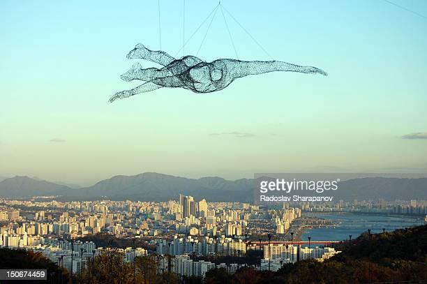 Seoul flying man