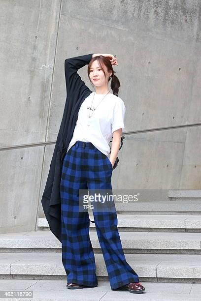 2015 Seoul FW fashion show runway on 19th March 2015 in Seoul South Korea