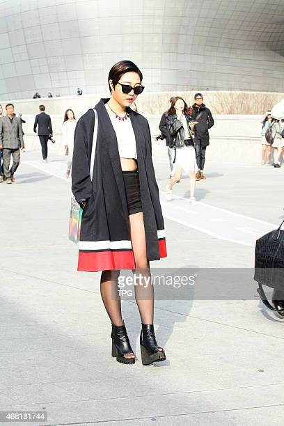 2015 Seoul FW fashion show runway on 19th March 2015 in Seoul South Korea