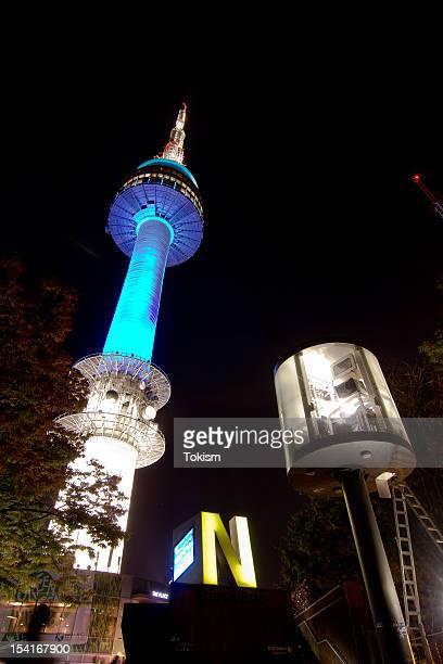 Seoul N Tower, South Korea at night