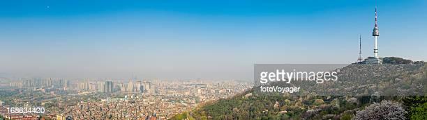 Seoul Namsan Tower sunrise cityscape panorama South Korea