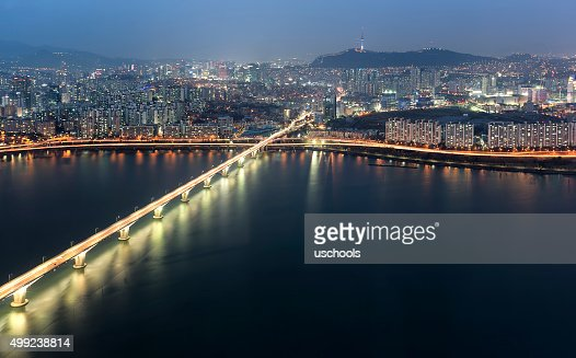 Seoul, South Korea Skyline with N Seoul Tower