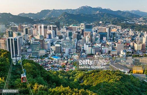 Seoul view Namsan Mountain