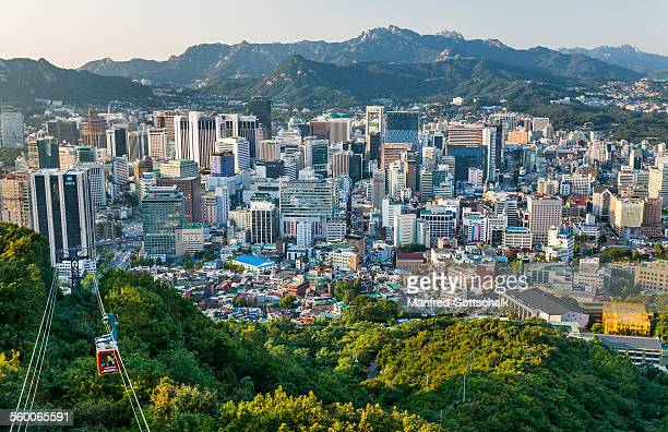 Seoul view Namsan Mountain