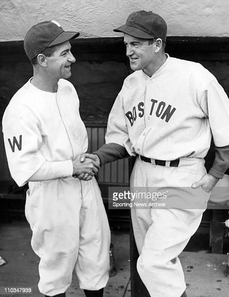 Sep 06 2005 Boston MA USA Washington Senator BUCK HARRIS and Boston Red Sox manager JOE CORNIN