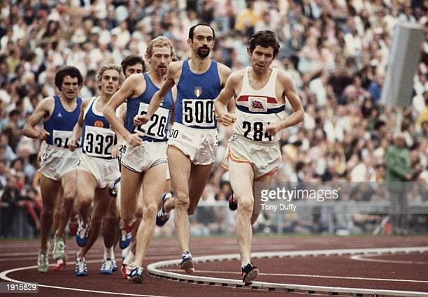 Brendan Foster of Great Britain leads the field in a 1500 metre heat at the 1972 Olympic Games in Munich Germany Mandatory Credit Tony Duffy/Allsport