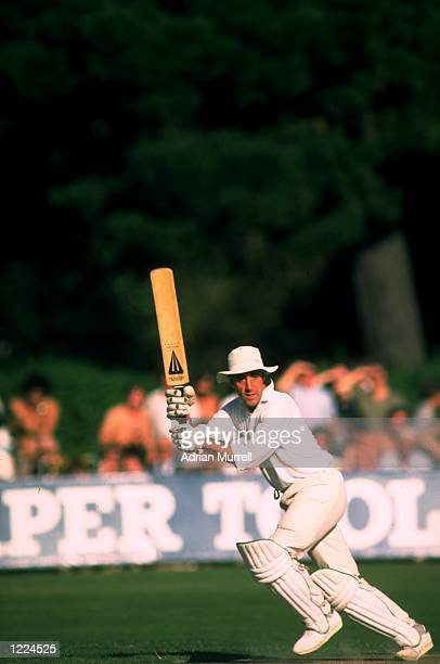 Mike Brearley of Middlesex in action during a John Player League match against Hampshire in Eastbourne England Mandatory Credit Adrian...