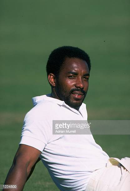 Roland Butcher of Middlesex relaxes during a match against Hampshire in Bournemouth England Mandatory Credit Adrian Murrell/Allsport