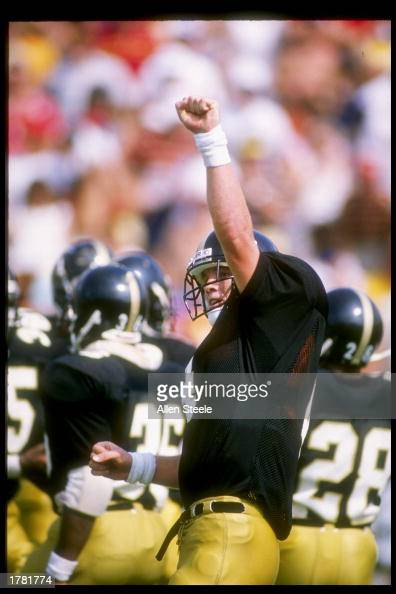 Quarterback Brett Favre of the South Mississippi Golden Eagles in action during a game against the Florida State Seminoles Mandatory Credit Allen...