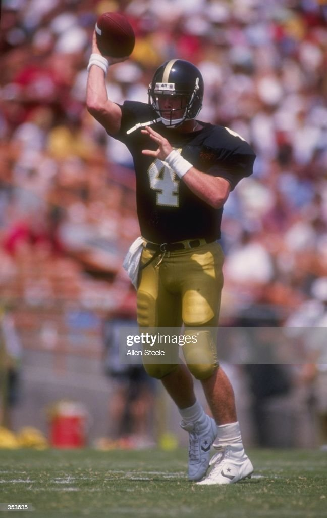 Quarterback Brett Favre of the Southern Mississippi Golden Eagles delivers a pass during the Golden Eagles 3026 victory over the Florida State...
