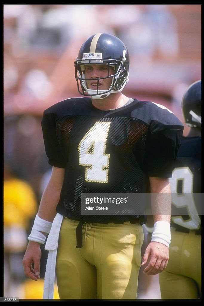 Quarterback Brett Favre of the Southern Mississippi Golden Eagles looks to the sideline during the Golden Eagles 3026 victory over the Florida State...
