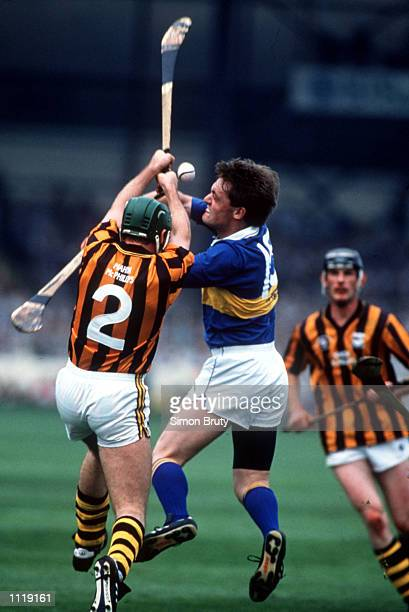 Bill Hennessy of Kilkenny and Nicky English of Tipperary in action during the Tipperary v Kilkenny All Ireland Hurling Final at Croke Park Dublin...