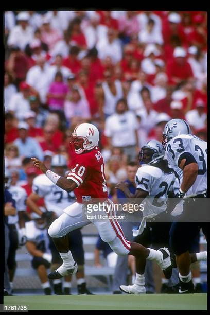 Quarterback Kethen McCant of the Nebraska Cornhuskers in action during a game against the Utah State Aggies Nebraska won the game 5928 Mandatory...