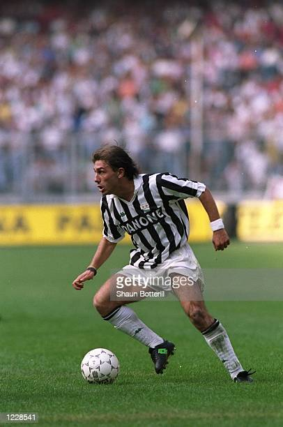 Antonio Conte of Juventus in action during a Series A match Mandatory Credit Shaun Botterill/Allsport