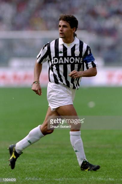 Roberto Baggio of Juventus FC in action during a match Mandatory Credit Shaun Botterill/Allsport