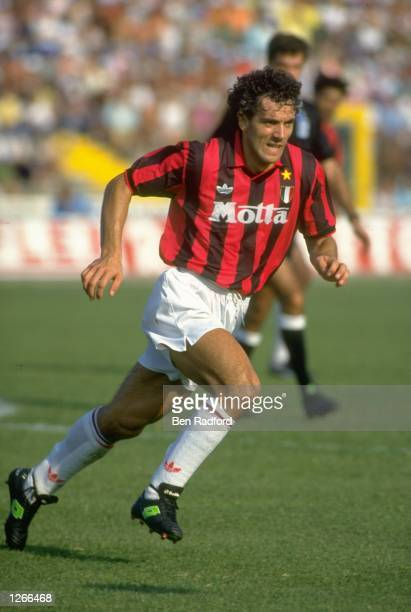 Roberto Donadoni of AC Milan in action during a Serie A match at the San Siro Stadium in Milan Italy Mandatory Credit Ben Radford/Allsport