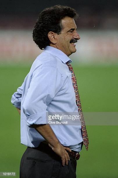 Torino Coach Emiliano Mondonico watches his team during a match Mandatory Credit Clive Brunskill/Allsport