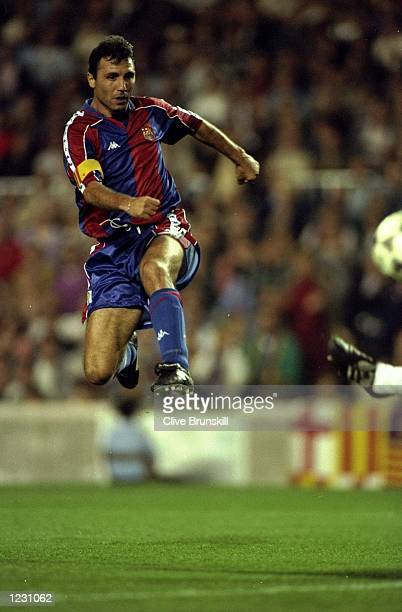 Hristo Stoichkov of Barcelona in action during a match Mandatory Credit Clive Brunskill/Allsport