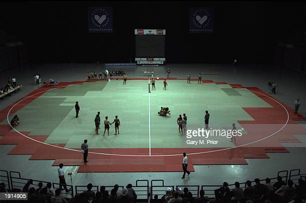 A general view of the National Kabaddi Championships at the National Indoor Arena in Birmingham England Mandatory Credit Gary M Prior /Allsport