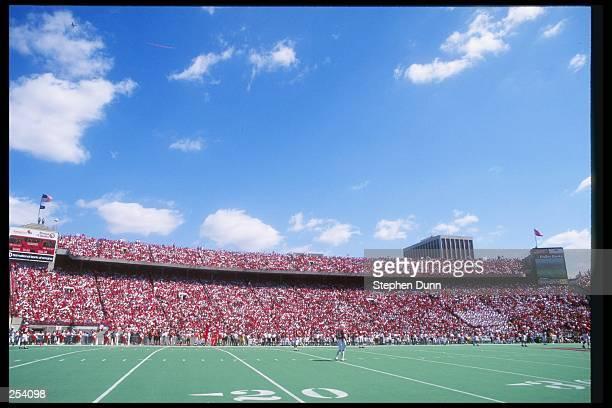 General view of a game between the Arizona State Sun Devils and the Nebraska Cornhuskers at Memorial Stadium in Lincoln Nebraska Nebraska won the...
