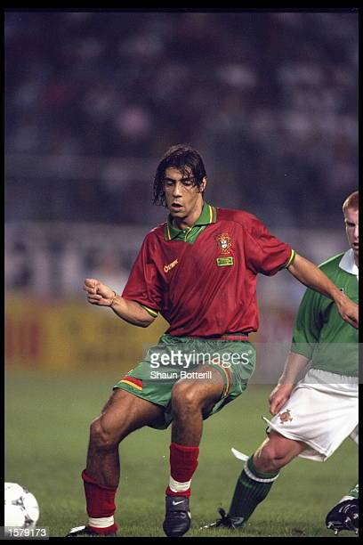 Rui Costa of Portugal on the Ball during the European Championships qualifier against Northern Ireland