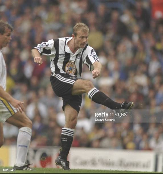 Alan Shearer of Newcastle United in action during the FA Carling Premiership match between Leeds United and Newcastle United at Elland Road Leeds...