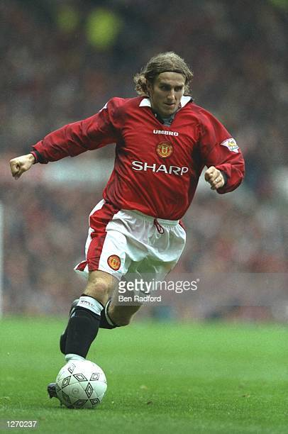 Karel Poborsky of Manchester United in action during an FA Carling Premiership match against Tottenham Hotspur at Old Trafford in Manchester England...